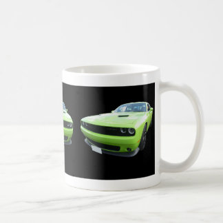 Green Dodge Challenger Mug