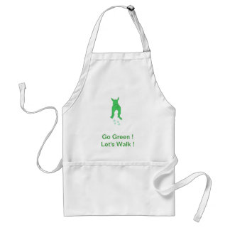 Green Dog Ears Up Let s Walk Apron
