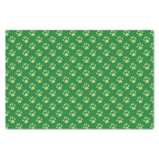 Green Dog Paw Print Christmas Tissue Paper