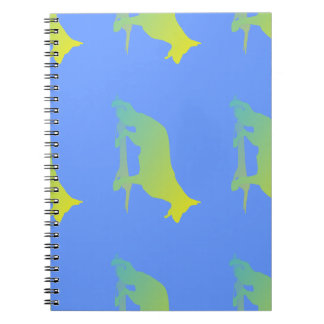 Green Dog Spiral Notebook