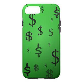 Green Dollar Sign Print iPhone 7 Case