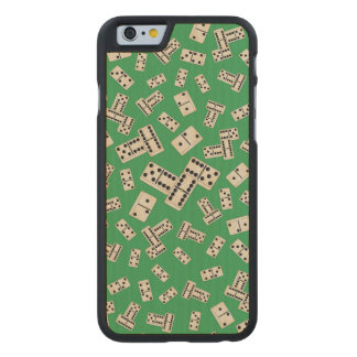 Green dominos carved® maple iPhone 6 slim case