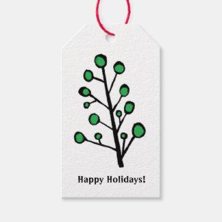 Green Dot Tree Gift Tags