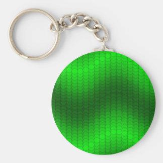 Green dot wave keychain