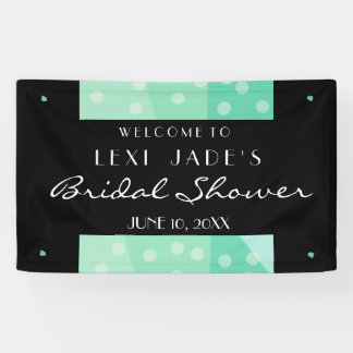 Green Dots and Spots Party Banner