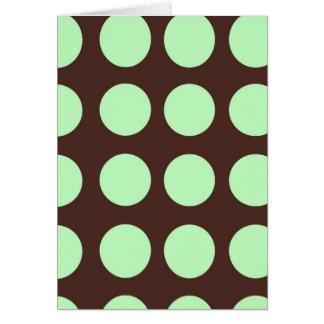 Green Dots Blank Greeting Card