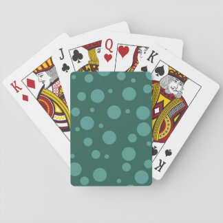 Green Dots Classic Playing Cards