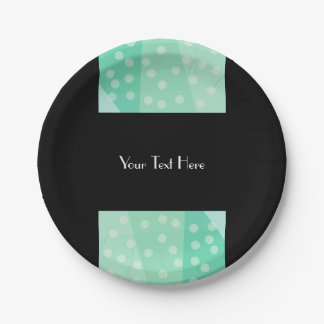 Green Dots Spot Party Paper Plates 7 Inch Paper Plate