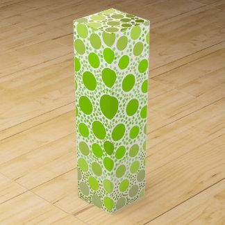 Green Dots Wine Bottle Box