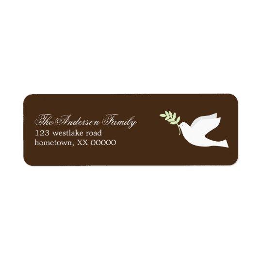 Green Dove Address Labels