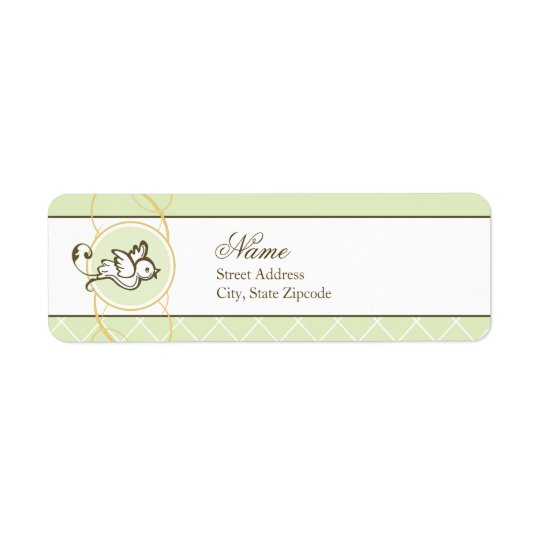 Green Dove Return Address Label