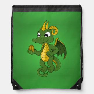 Green dragon cartoon Backpack