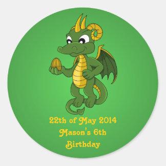 Green dragon cartoon Stickers
