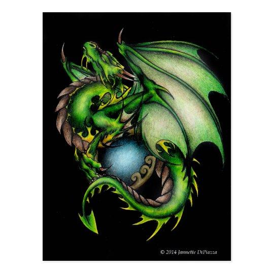 Green Dragon Circle.jpeg Postcard