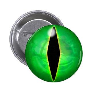 Green Dragon Eye 2 Inch Round Button