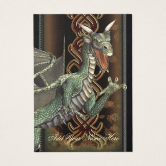 Green Dragon Fantasy Art Profile Card