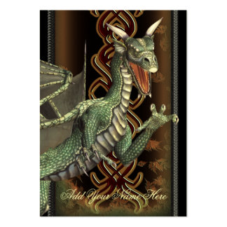 Green Dragon Fantasy Art Profile Card Large Business Card