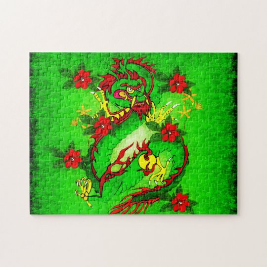 Green Dragon Jigsaw Puzzle