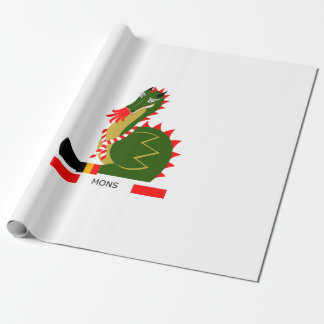Green Dragon of city Mons, Belgium Wrapping Paper