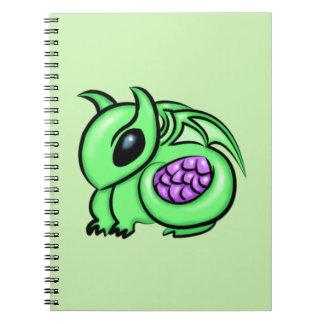 Green Dragon, Purple Dragon Egg Spiral Notebook