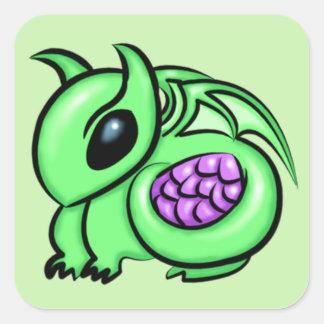 Green Dragon, Purple Dragon Egg Square Sticker