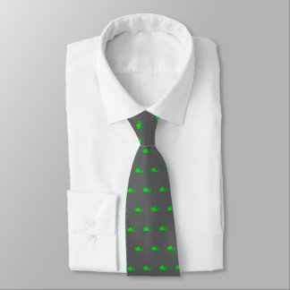 Green Dragon Silhouette Tie