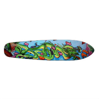 Green Dragon Vectors - Graffiti Streetart Deck Skate Board Deck