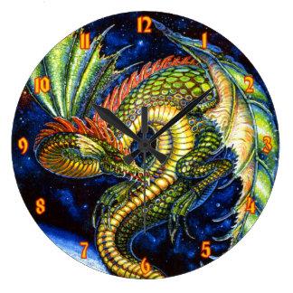 Green Dragon Wall Clock