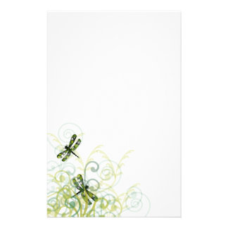 Green Dragonflies Stationery