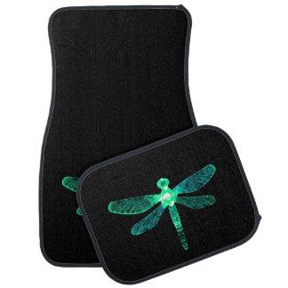 Green Dragonfly Car Mats