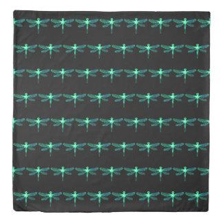 Green Dragonfly Duvet Cover