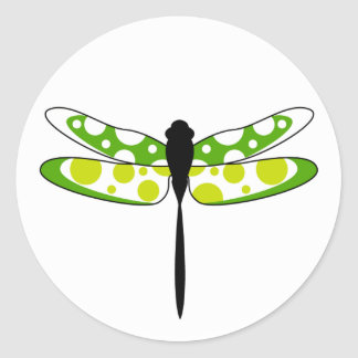 Green Dragonfly Sticker