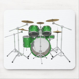 Green Drum Kit: Mouse Pad
