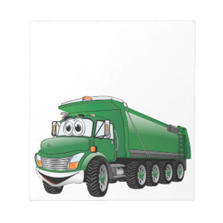 Green Dump Truck 10w Cartoon Notepads