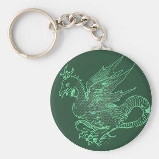 Green Durer Dragon Keychain