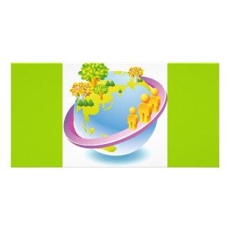 Green_Earth (4) Custom Photo Card