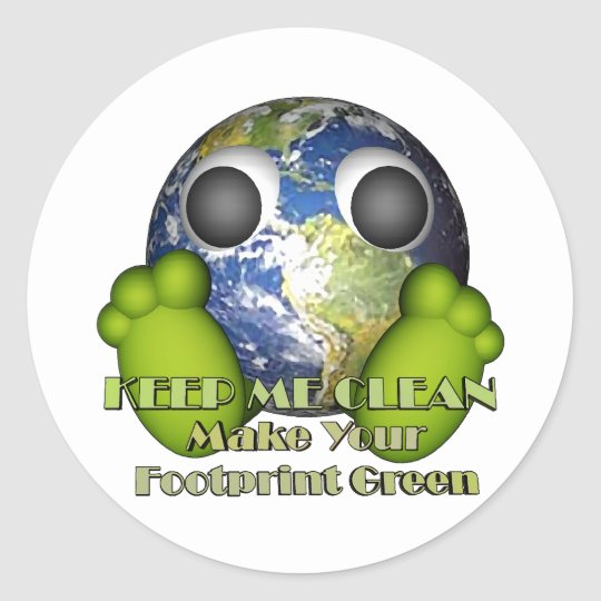 Green Earth Clean Earth Classic Round Sticker