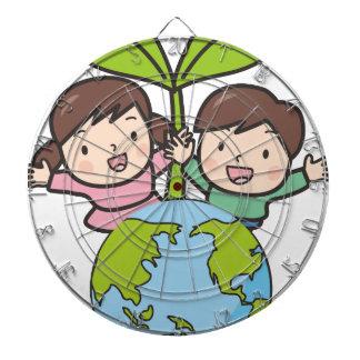 Green Earth Dartboard