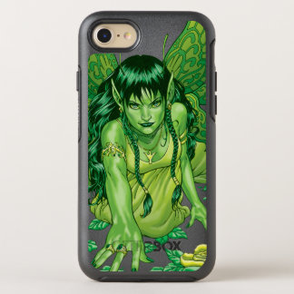 Green Earth Fairy Illustration by Al Rio OtterBox Symmetry iPhone 8/7 Case