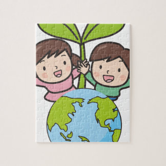 Green Earth Jigsaw Puzzle