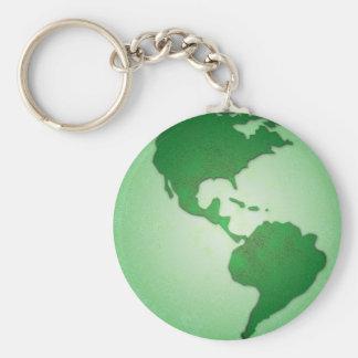 Green Earth Keychain