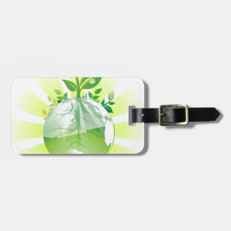 Green Earth Luggage Tag