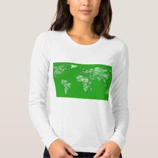 Green earth map tshirt