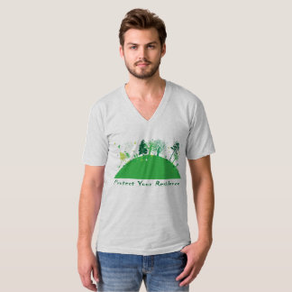 Green Earth Men's American Apparel Fine Jersey V-n T-Shirt