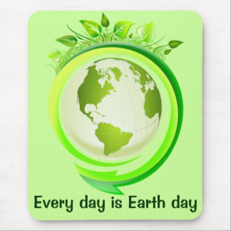 Green earth mousepad