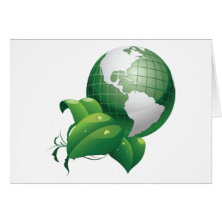 Green Earth ~ Nature Sustainable Environment Greeting Card