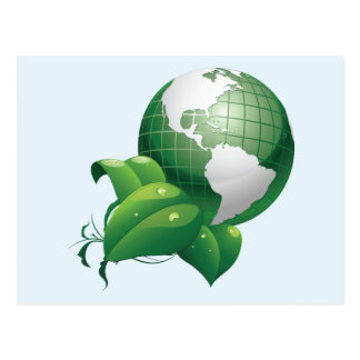 Green Earth ~ Nature Sustainable Environment Postcard