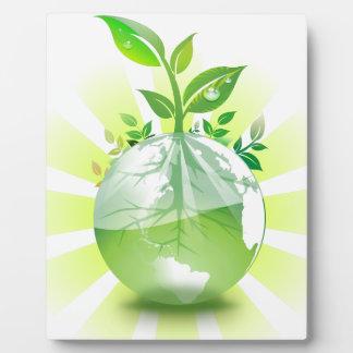 Green Earth Plaque