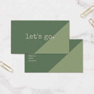 Green Earthy Simple Modern Shades of Greenery Business Card