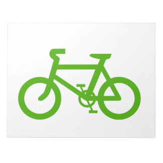 Green Eco Bicycle Notepad